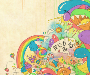 rainbow, monster, and candy image