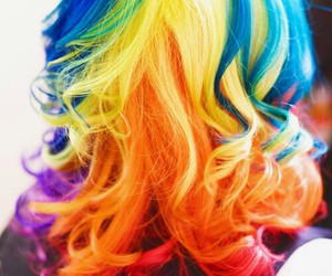 colorful, dyed, and hair image