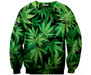 sweater, jumper, and weed image