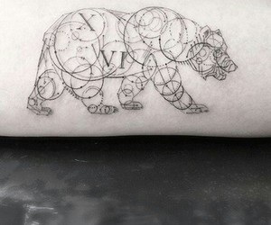 tattoo, bear, and animal image