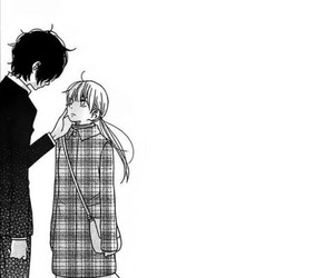 black and white, girl, and manga image