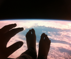 ceiling, earth, and outer space image