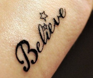 tattoo, believe, and stars image