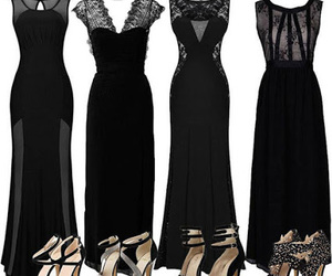black, dresses, and heels image