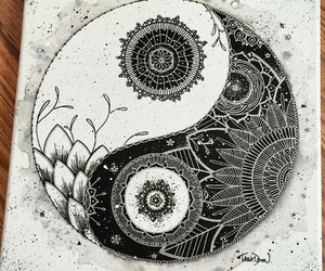 art, black and white, and yin image
