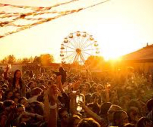 ferris wheel, festival, and summer image
