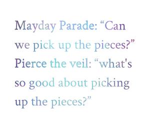 bands, pierce the veil, and Lyrics image