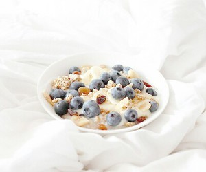 breakfast, food, and blueberries image