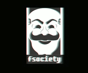 mr robot and fsociety image