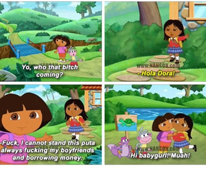 funny, Dora, and fake image