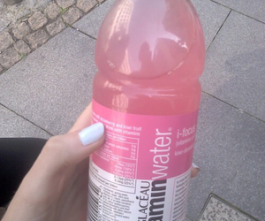 pink, drink, and water image