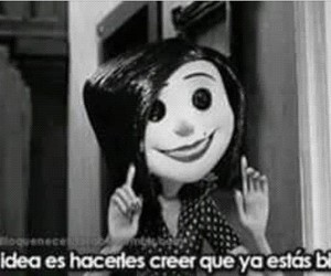 coraline, smile, and frases image