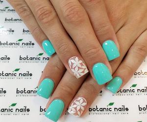 flowers, nails, and botanic nails image
