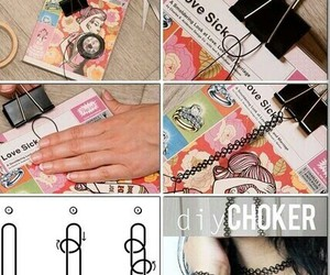 diy, choker, and do it yourself image
