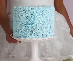 blue, cake, and wedding image