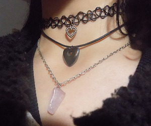 edgy, grunge, and necklace image