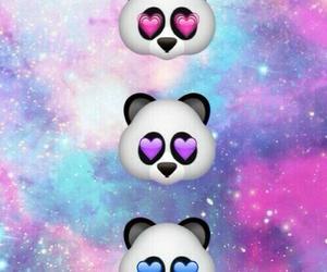 panda, galaxy, and wallpaper image