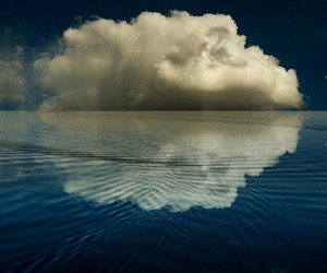 clouds, photography, and sea image