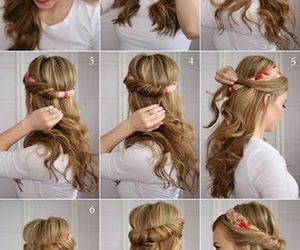 diy, hairstyle, and girl image