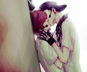 kiss, shonen-ai, and cute image