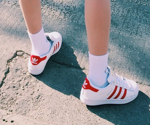 red, adidas, and aesthetic image