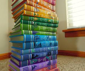 book, rainbow, and colors image