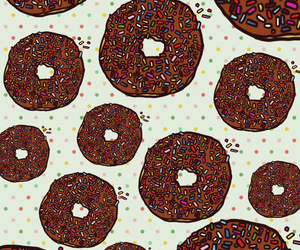 background, donut, and sprinkle image