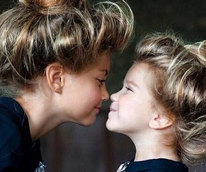 sisters, cute, and love image