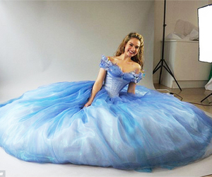 cinderella, lily james, and dress image