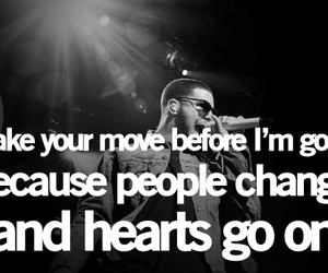Drake, hearts, and quotes image
