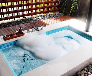 bath, luxury, and home image
