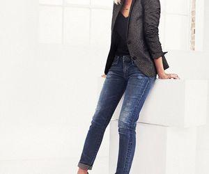 blazer, jeans, and preto image