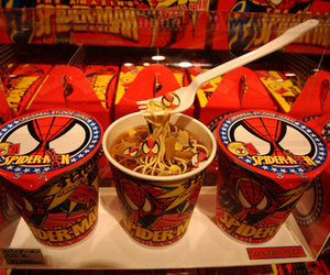 spider-man and cup noodles image