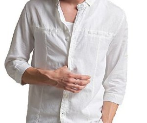 white linen casual shirts image