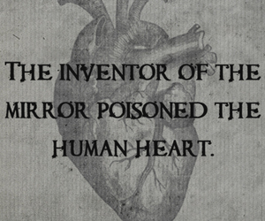 heart, mirror, and text image