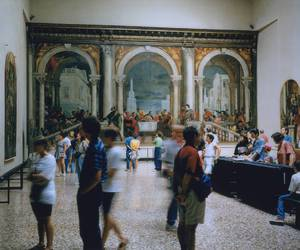 art, museum, and people image