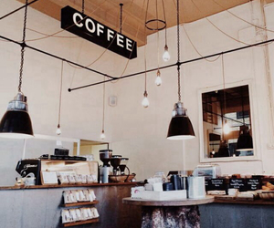 coffee, coffee shop, and cafe image
