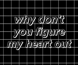 black, grunge, and heart image