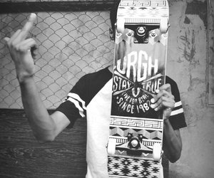 board, boy, and skate image