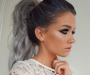 hair, ariana grande, and grey image