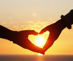 sunset and heart image