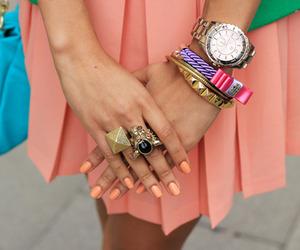 fashion, nails, and bracelets image