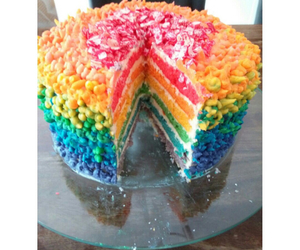 cake, colourful, and colours image