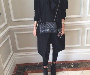 black, fashion, and chanel image