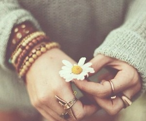 bracelets, girl, and sunflower image