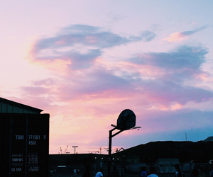 Basketball, beautiful, and clouds image