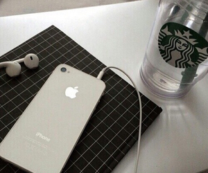 iphone, starbucks, and grunge image