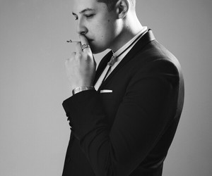 black and white and john newman image