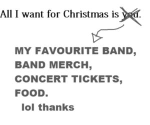band, christmas, and food image