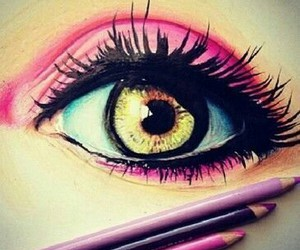 eye, Ilustration, and art image